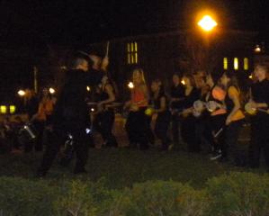 Samba Laranja outside Crouse College
