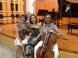 Trio Casals: Sylvia Ahramjian, violin, Anna Kislitsyna, piano, & Ovidiu Marinescu, 'cello