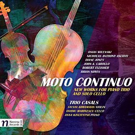 """The 2015 release from Trio Casals, including """"Three Songs"""" by Diane Jones."""